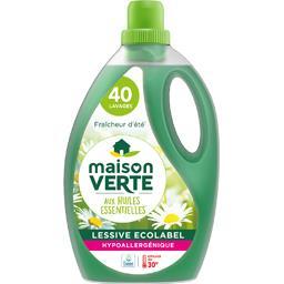 2 Bidons de Lessive liquide Maison Verte aux Huiles essentielles