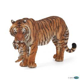 Figurine tigresse et son bébé Papo 50118