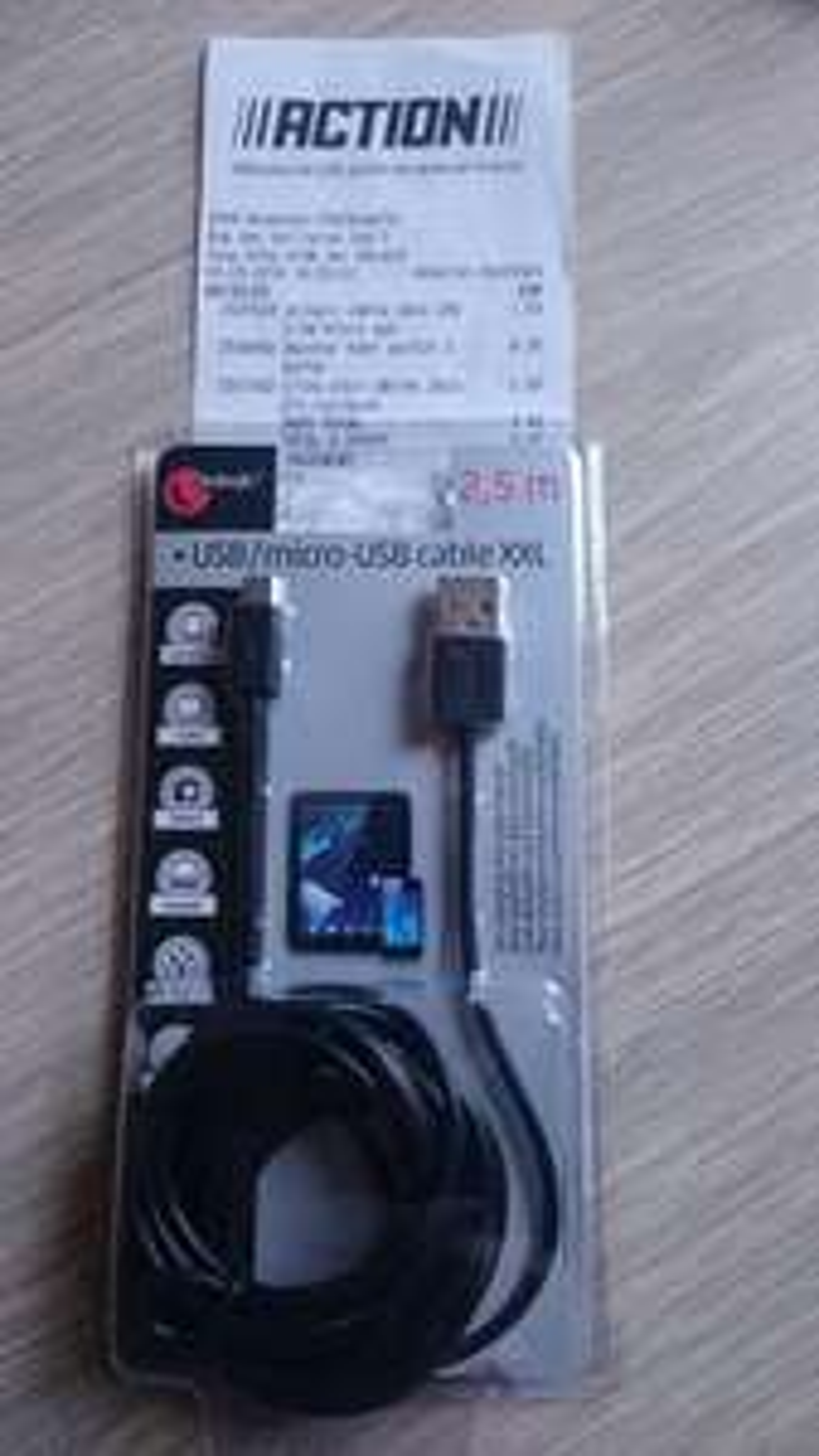 Câble USB / micro USB Sologic (2,5 m)