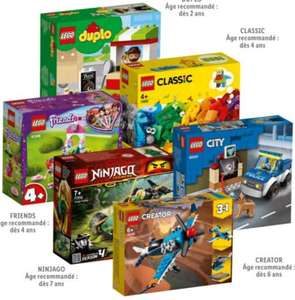 Sélection de jeux de construction Lego City, Classic, Creator, Duplo, Friends ou Ninjago à 6.99€