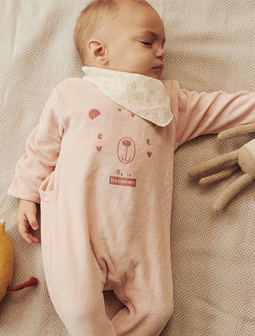 Pyjama en velours + bavoir éco-conçu