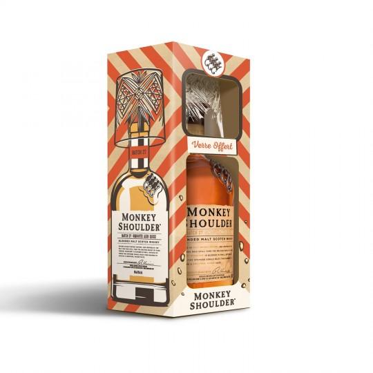 Coffret Monkey Shoulder - Whisky 70cl + un verre dégustation