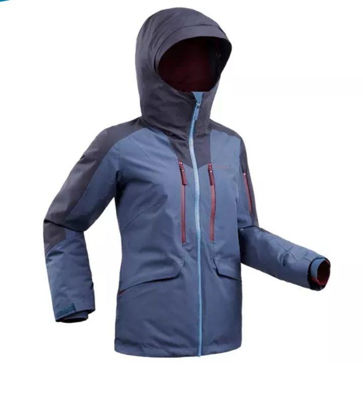 Veste de ski Wedze Freeride FR500 JKT pour Femme - Bleu Ardoise ou Rouge Fluo