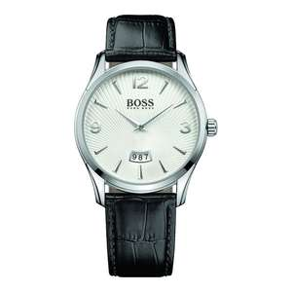 Montre analogique à quartz Hugo Boss 1513449 - bracelet en cuir, noir