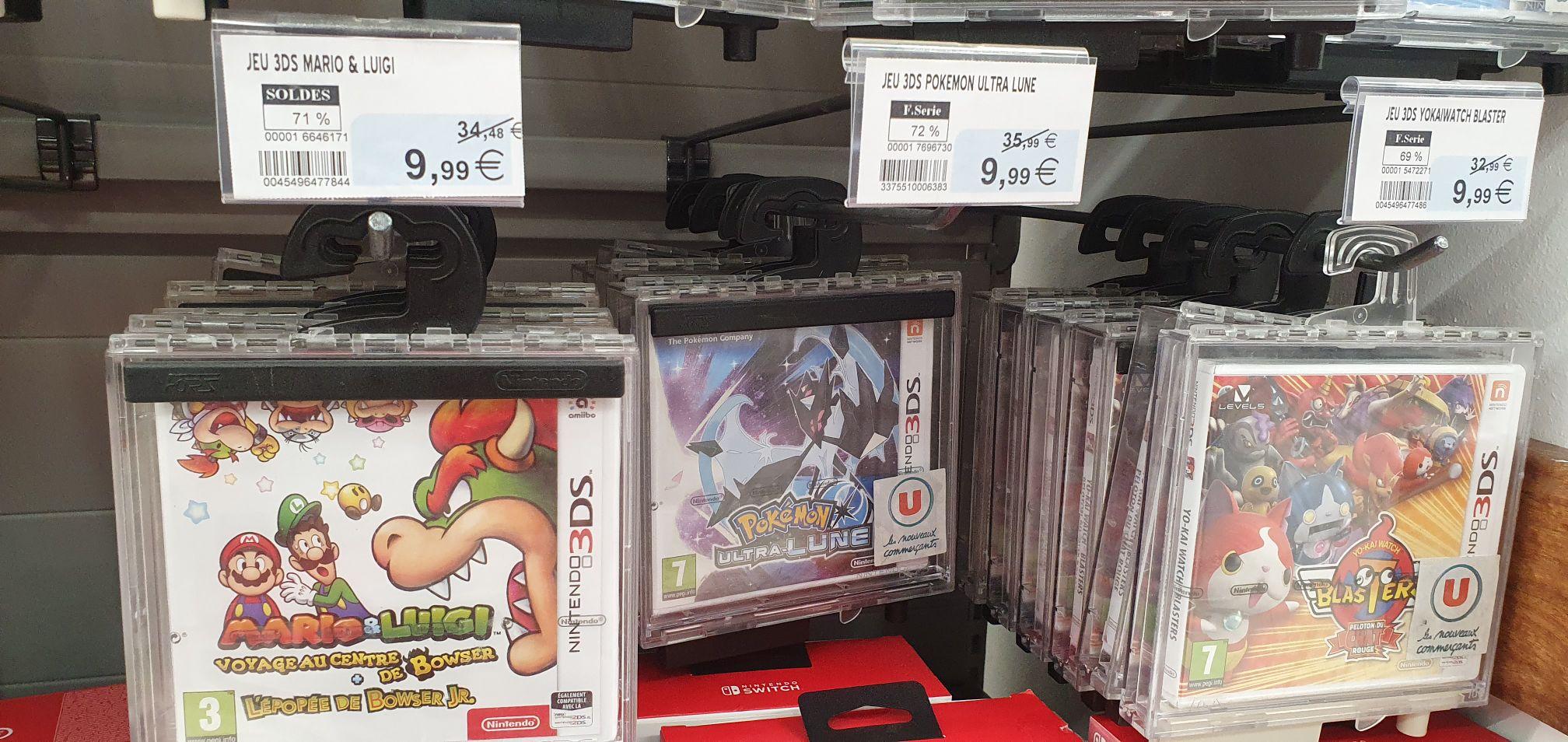 Sélection de jeux vidéo sur 3DS en promotion - Ex : Pokémon Ultra-Lune - Limoges (87)