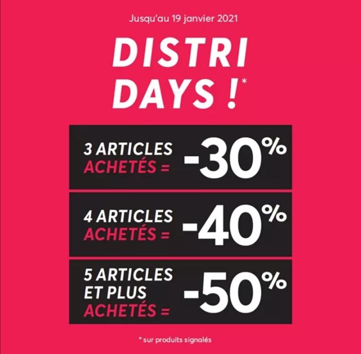 Jusqu'à 50% de réduction dès 5 articles achetés sur les articles signalés