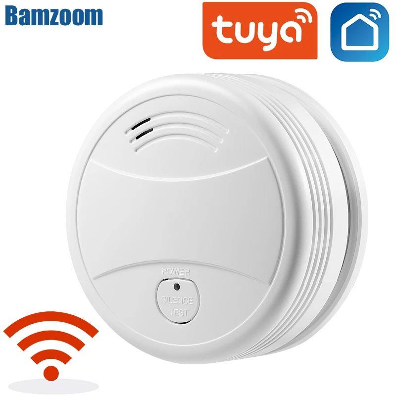 Détecteur de fumée connecté Wi-Fi Tuya