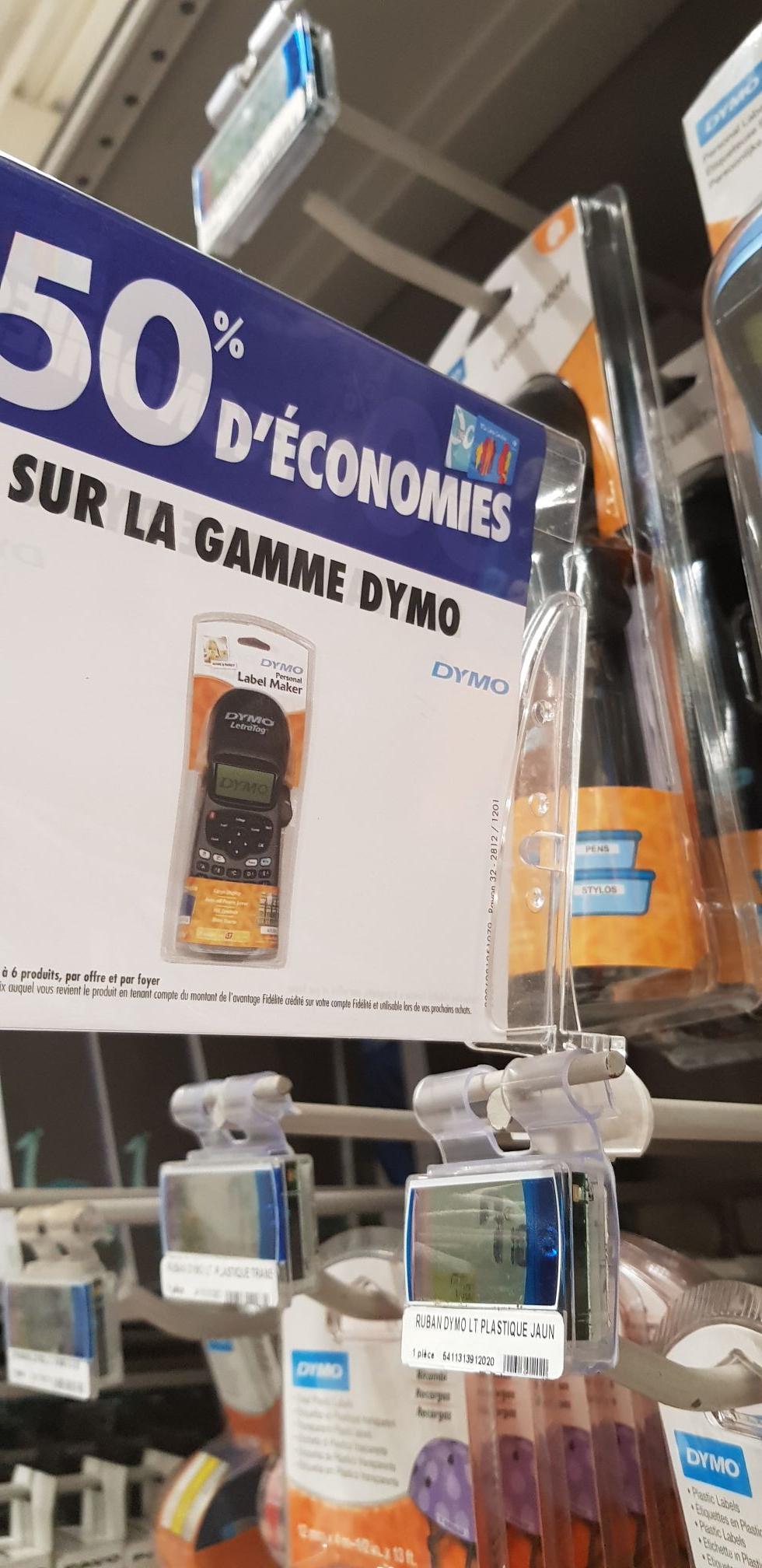 [Carte Fidélité] 50% remboursés sur gamme Dymo - Ex : Etiqueteuse Dymo LT-100H 24 (Via 12€ sur Carte Fidélité) - Labège (31)