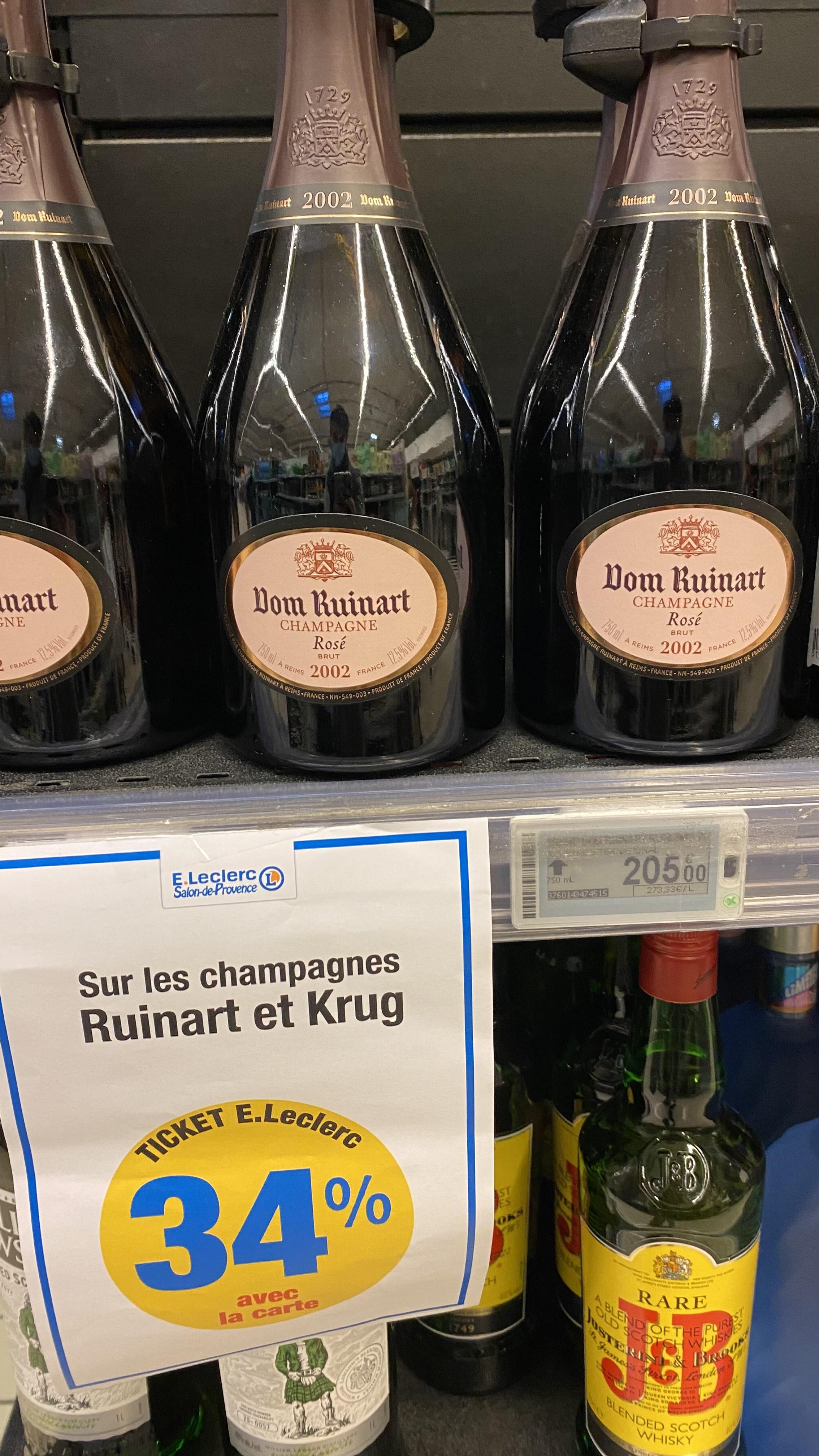 34% de réduction les champagnes Ruinart et Krug (Via cagnottage sur la carte de fidélité) - Salon de Provence (13)