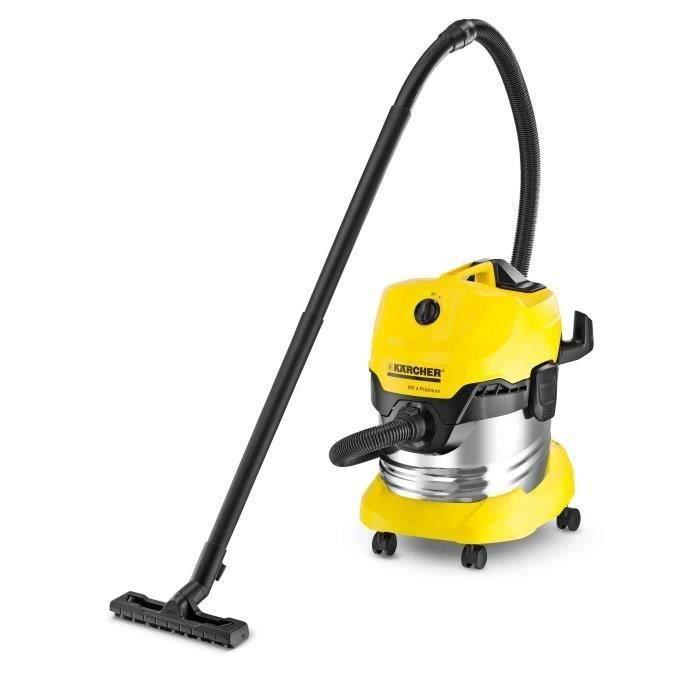 Aspirateur eau-poussière Karcher WD 4 Premium - Cuve inox 20 L, 1000 W