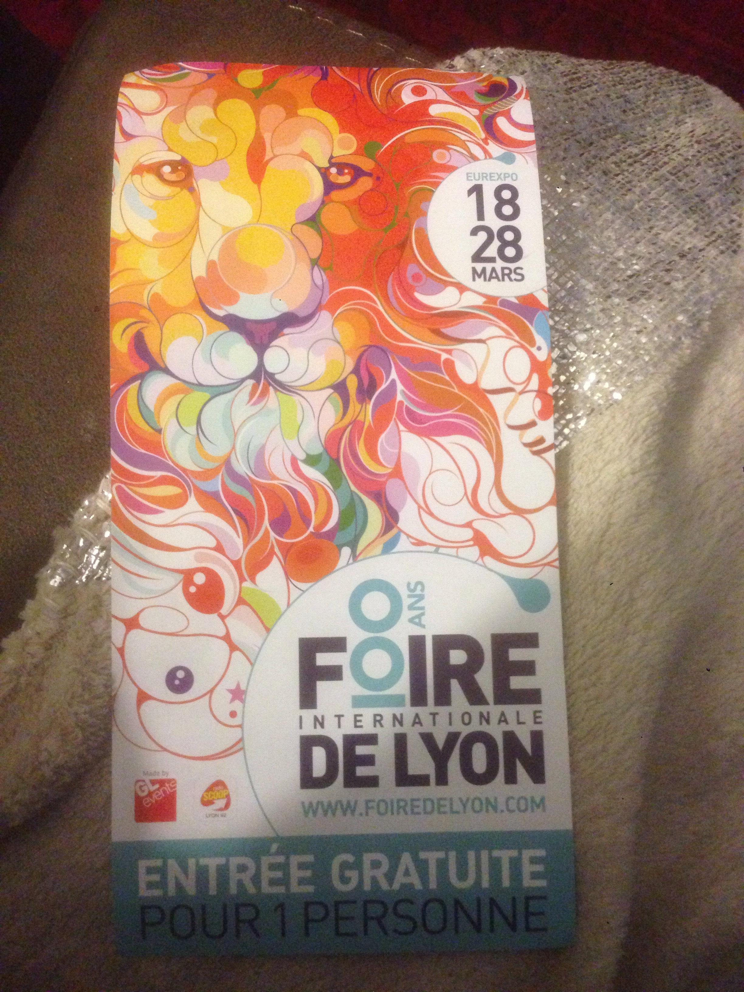 Entrée gratuite pour la Foire de Lyon du 18 au 28 mars 2016