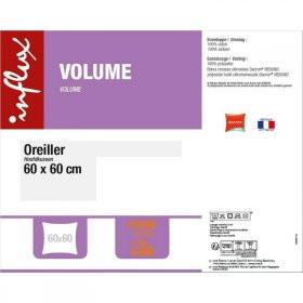 Lot de 2 oreillers Influx Volume - 60x60cm (via BDR)
