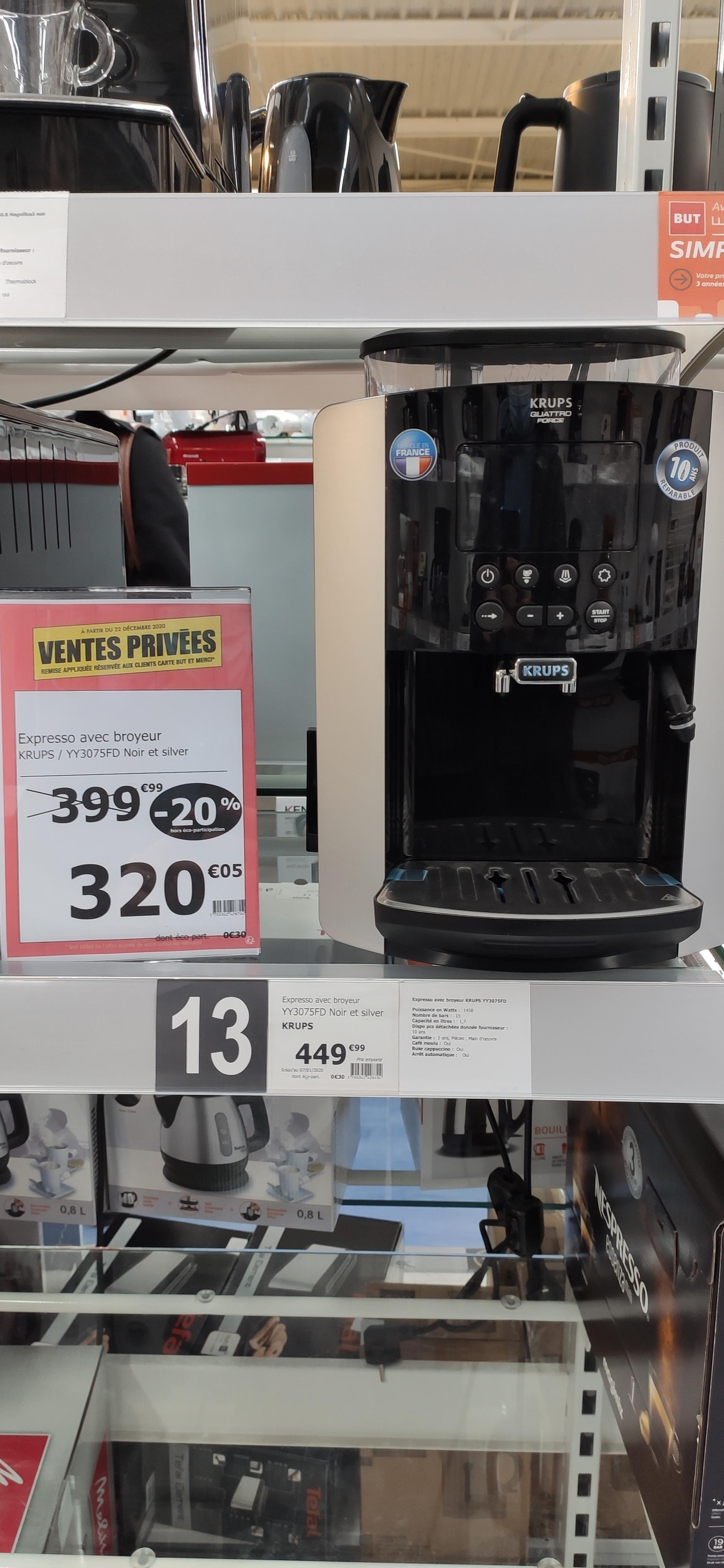 Machine à Expresso avec broyeur Krups YY3075FD (Via ODR de 40 €) - Nemours (77)