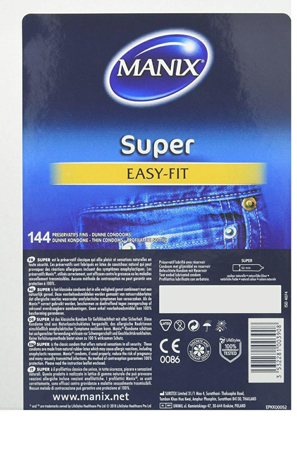 Boite de 144 Préservatif Manix Super Easyfit