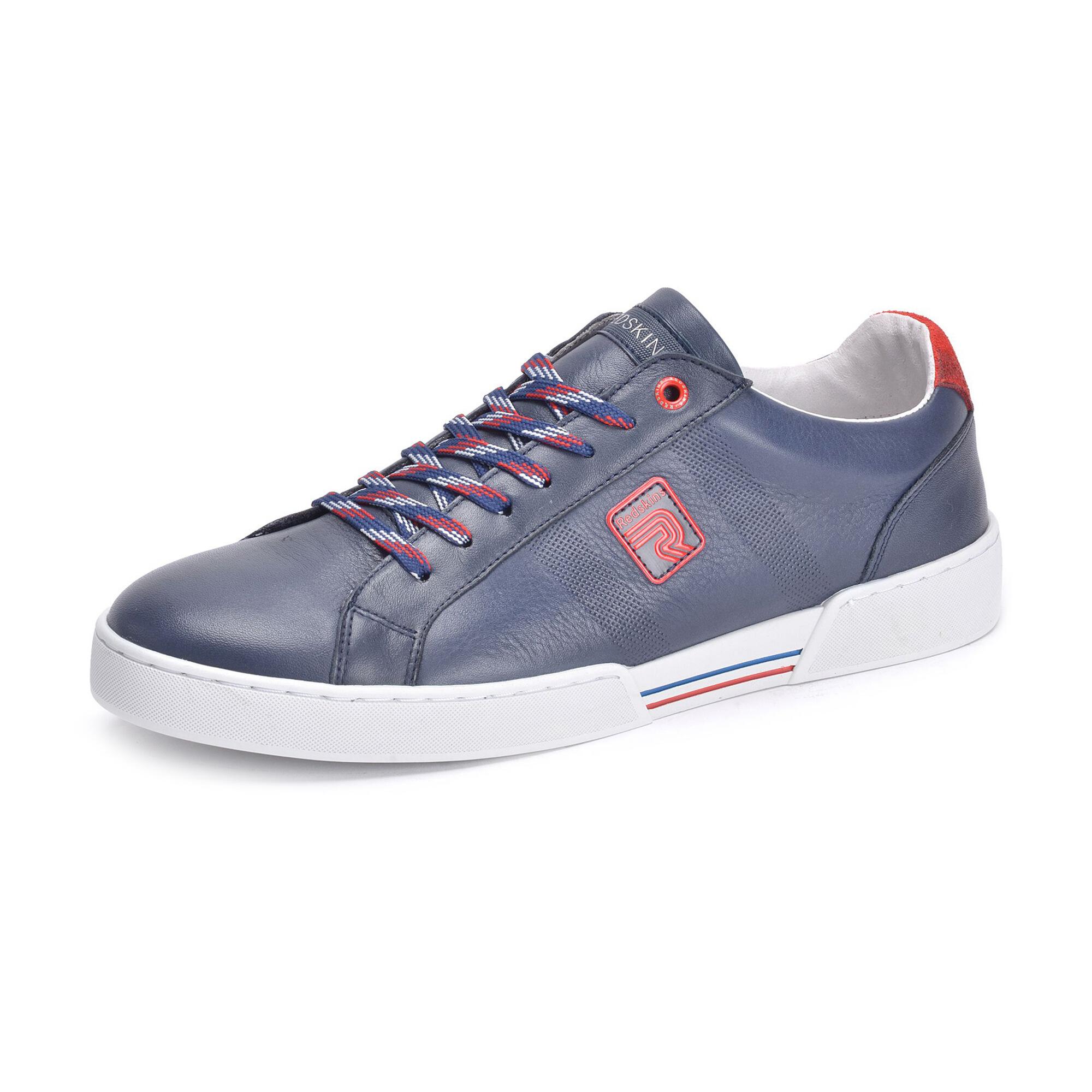 Chaussures en cuir Redskins Warrior - Bleu marine et rouge