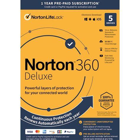 Abonnement de 1 An à Norton 360 - 5 appareils (Dématérialisé)