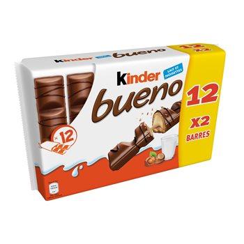 Lot de 2 paquets de 12 sachets de Kinder Bueno (2 x 12) - Valenciennes / Bellaing (59)
