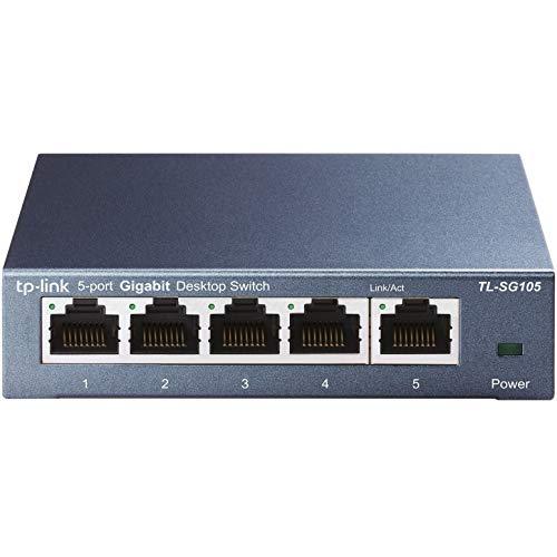 Switch Ethernet TP-Link TL-SG105 - Gigabit 5, RJ45, 10/100/1000 Mbps