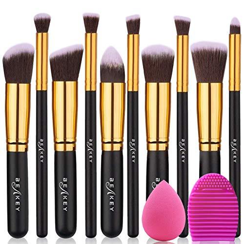 Kit de Brosses & Pinceaux Maquillage avec Blender Eponge et Brosse Oeuf (Vendeur TIers)