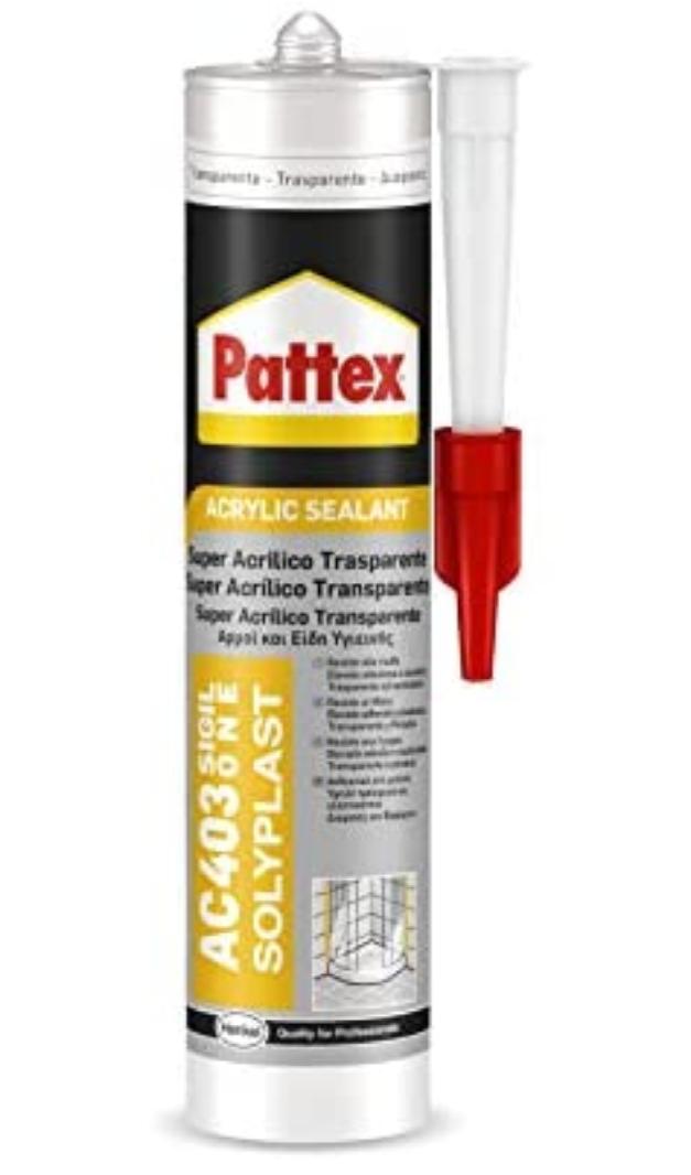 Joint d'étanchéité transparent Pattex AC403 - 300ml