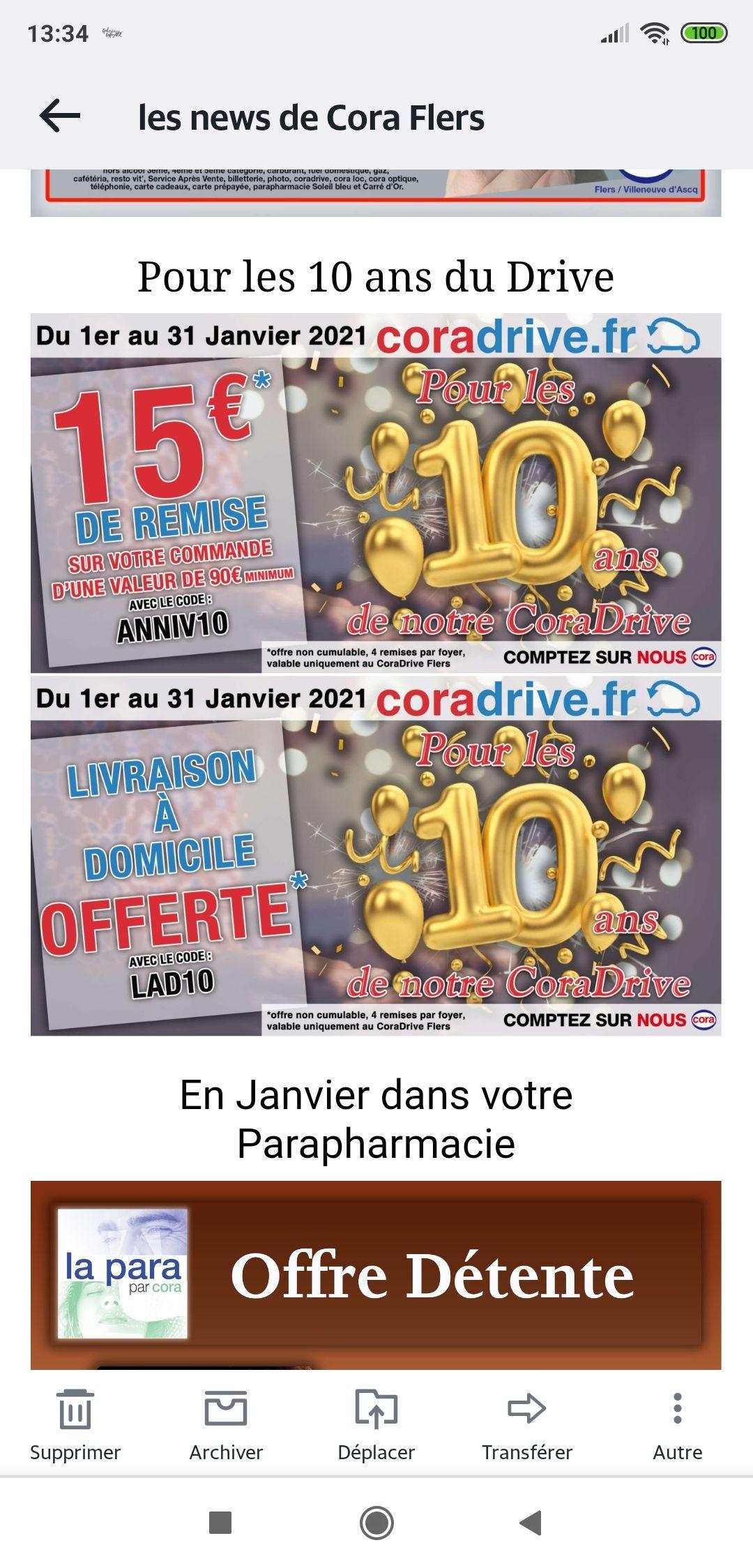 15 € de réduction dès 90€ d'achat