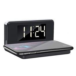 Réveil H'MC WALCL180 avec chargeur à Induction + USB