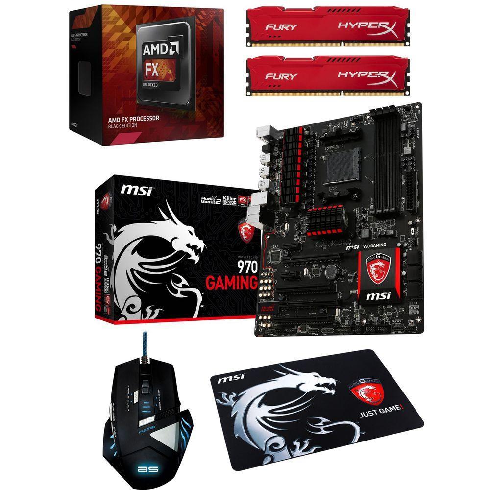 Kit évolution : AMD FX-6300 + carte mère MSI 970 Gaming  + 8 Go de RAM + souris Kult 2 + tapis MSI + Hitman