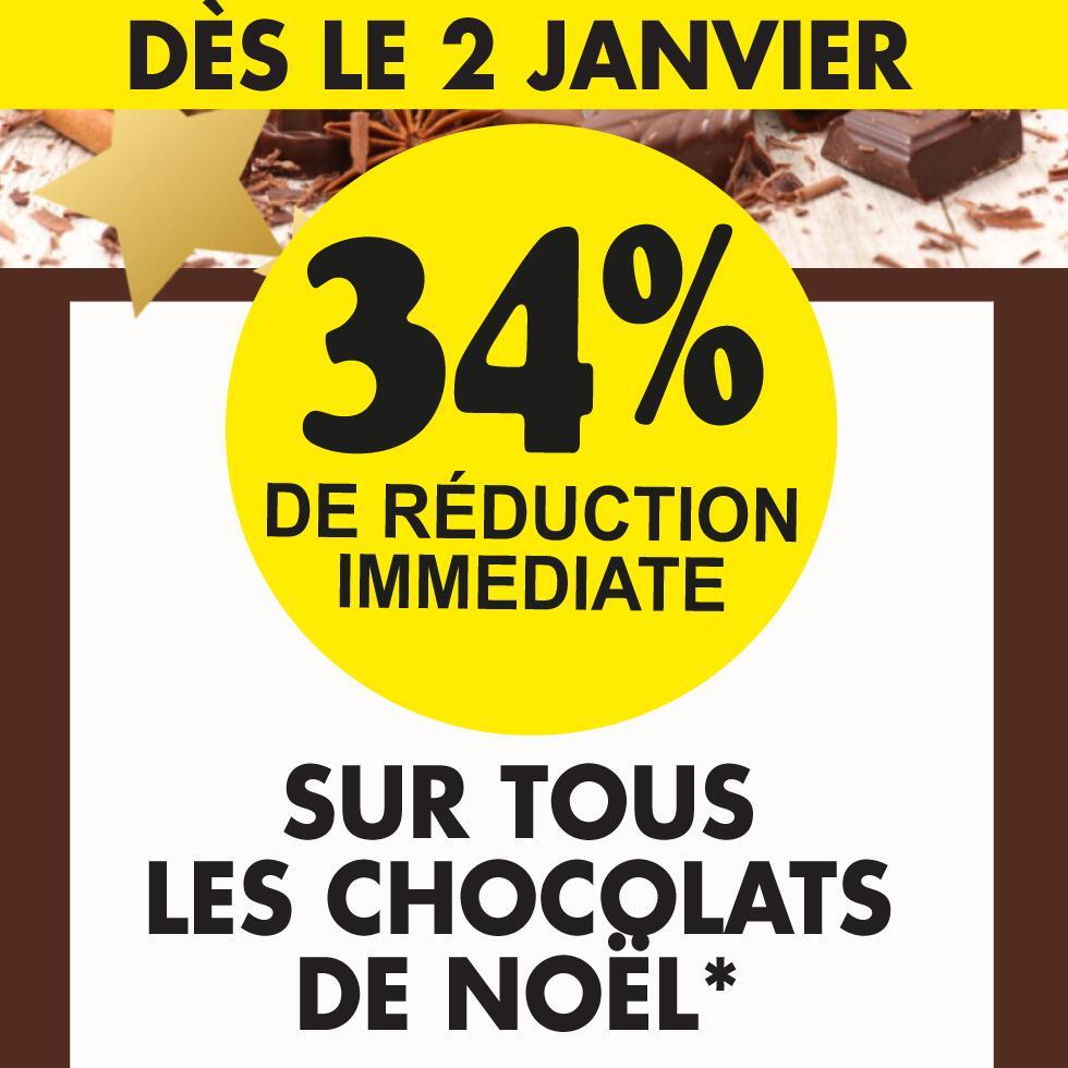 34% de réduction sur les chocolats de Noël - St Médard en Jalles (33)
