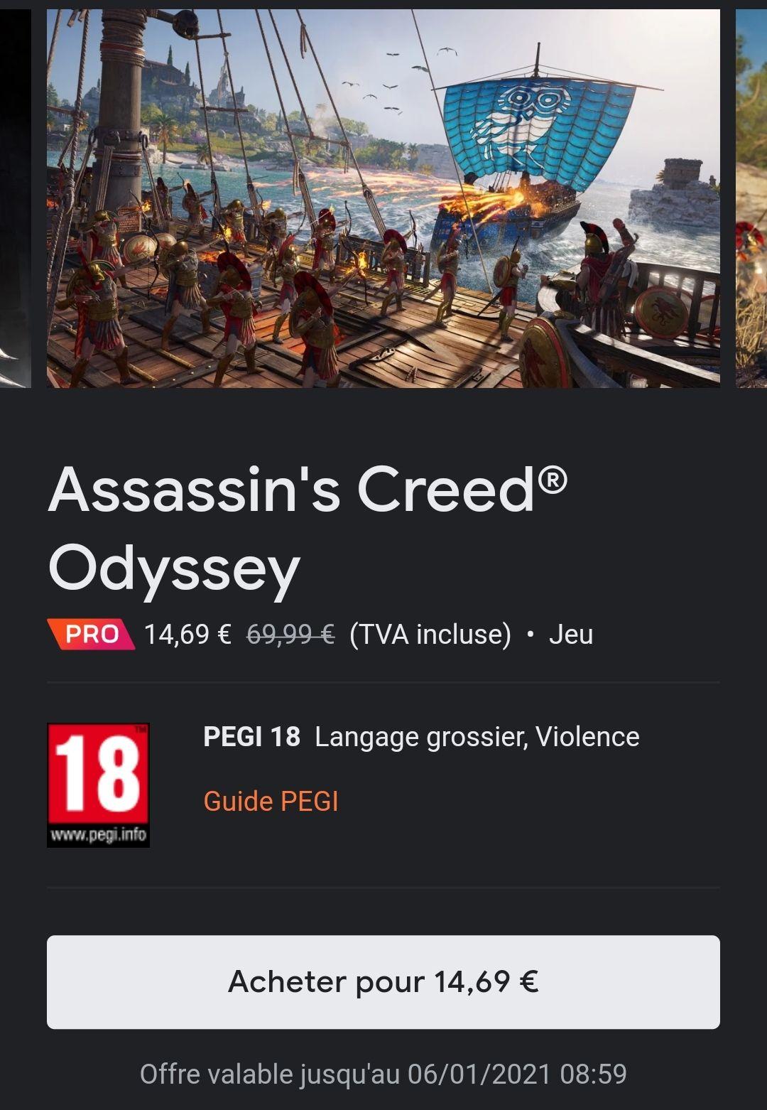 [Stadia Pro] Jeu Assassin's Creed Odyssey sur Stadia (Dématérialisé)