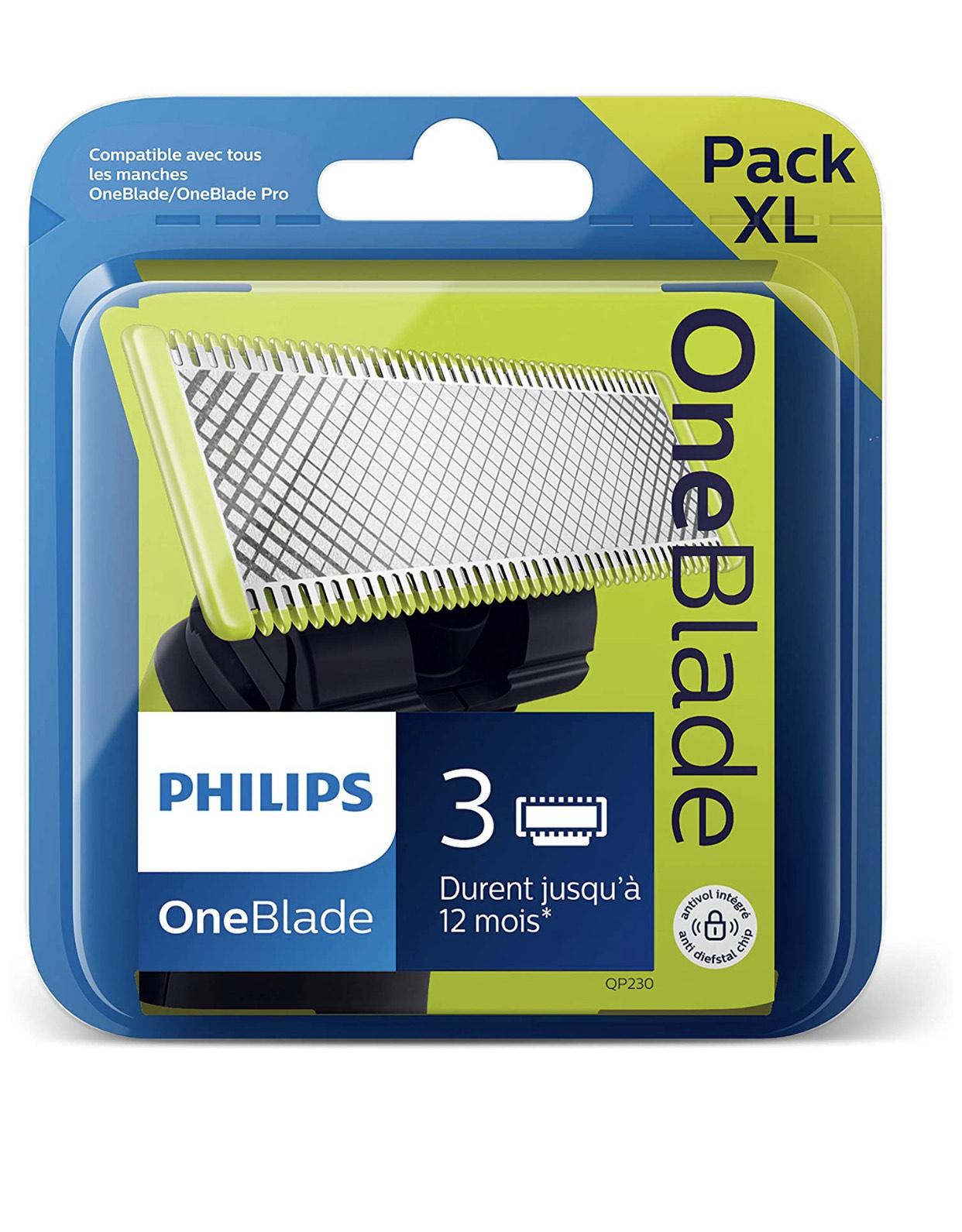 Pack XL : 3 Lames de remplacement Philips QP230/50 (vendeur tiers)