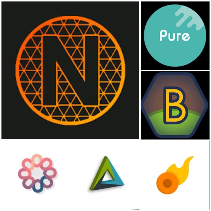 Sélection de Packs d'icônes gratuits pour Android - Ex: Pixel Net - Neon Icon Pack
