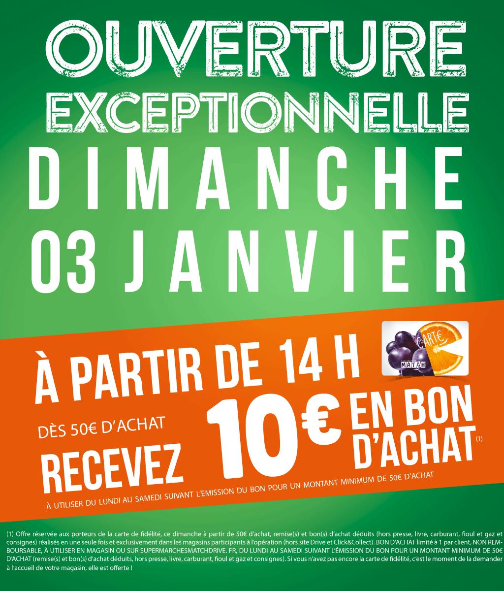 [Carte Fidélités] Bon d'achat de 10€ offert dès 50€ d'achat le 3 janvier à partir de 14h (hors drive) - Villeneuve-d'Ascq (59)