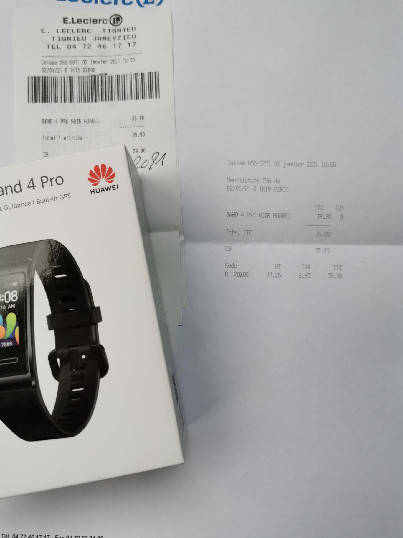 Bracelet connecté Huawei Band 4 Pro - Tignieu (38)