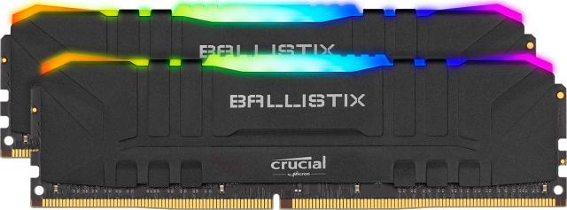 Kit Mémoire DDR4 Crucial Ballistix (BL2K8G32C16U4BL) 16 Go (8 Go x 2) - 3200 MHz, CL16