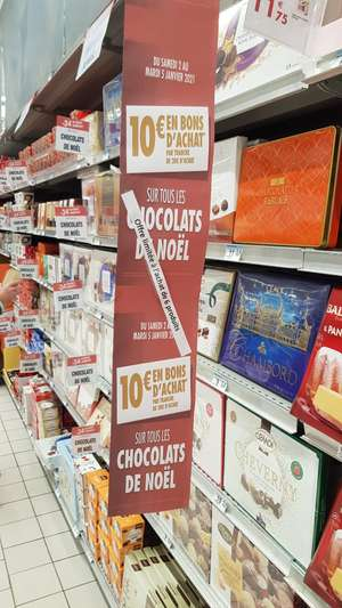 34% de remise immédiate sur une sélection de Chocolats de Noël - Brest (29)