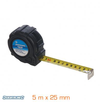 Mètre ruban Silverline XL - 5 m x 25 mm