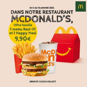 1 menu Best Of + 1 menu Happy Meal - Rennes (35)