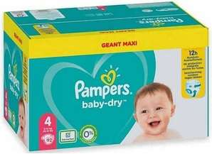 Géant Pack Couches Pampers Baby Dry - Différentes tailles (via 22,24€ sur la carte de fidélité + BDR)