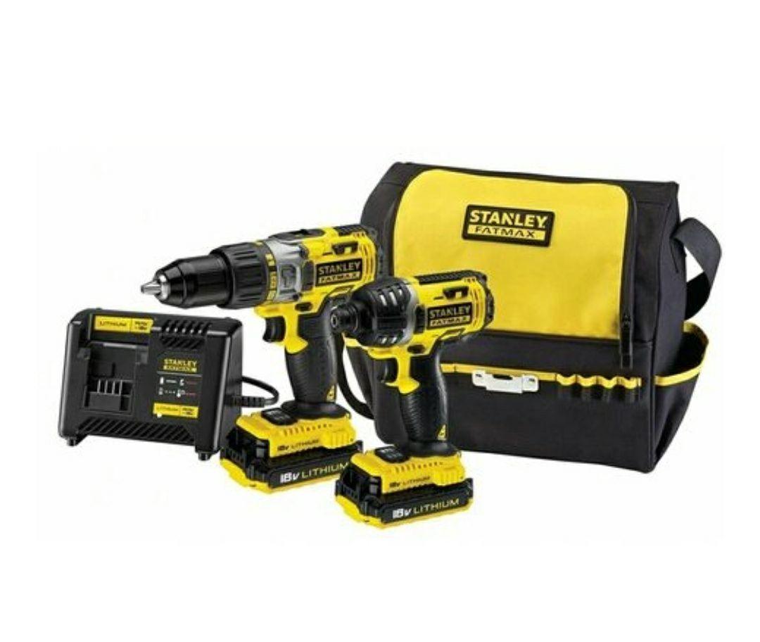 Pack d'outils sans-fil Stanley 18V FMCK461C2-QW - Perceuse + visseuse à chocs + 2 bat Li-Ion 2Ah + chargeur + sac de transport