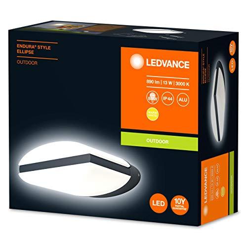 Applique Murale Extérieure Ledvance Endura ellipse - 13W, 890 lumens, IP44 (Vendeur tiers)