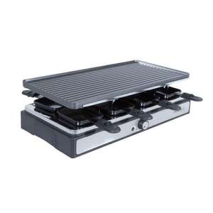 Appareil à raclette / Grill / Pierre de cuisson Cosylife CL-R8P - 8 personnes, 1400W, thermostat