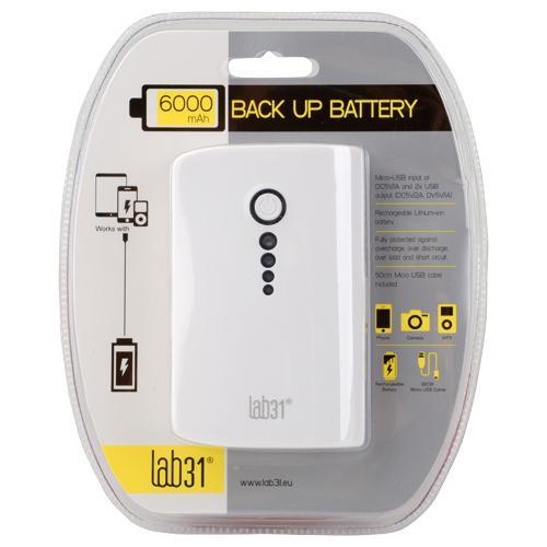Batterie Externe 6000 mah Lab31