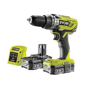 Perceuse-visseuse à percussion Ryobi R18PD3-215GZ + 2 batteries 1.5 Ah (Frais de port et taxes inclues)