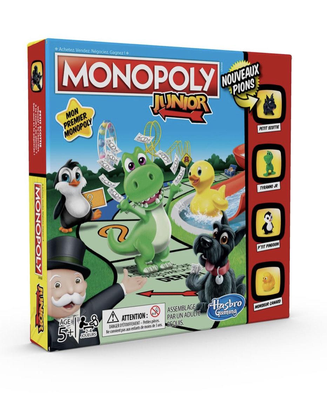 Jeu de société Hasbro Monopoly Junior (via 3,45€ sur la carte fidélité)