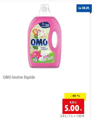 Bidons de Lessive liquide Omo - 2.6L