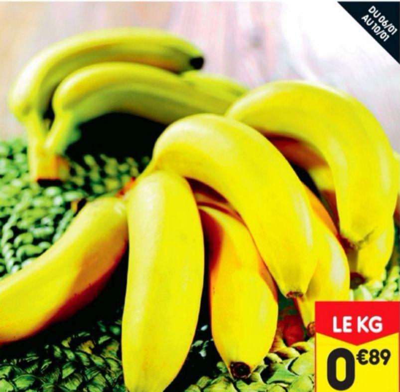 Banane Cavendish - Catégorie 1 (le kilo)