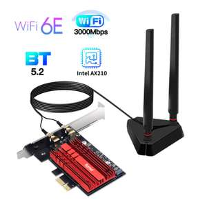 Carte WiFi Intel AX210 PCie - WiFi 6E, Bluetooth 5.2 (via Coupon)