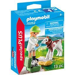 Playmobil Spécial Plus - Vétérinaire et veau (70252)