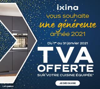 TVA offerte pour l'achat d'une cuisine équipée comprenant au moins 2.000€ de meubles posés