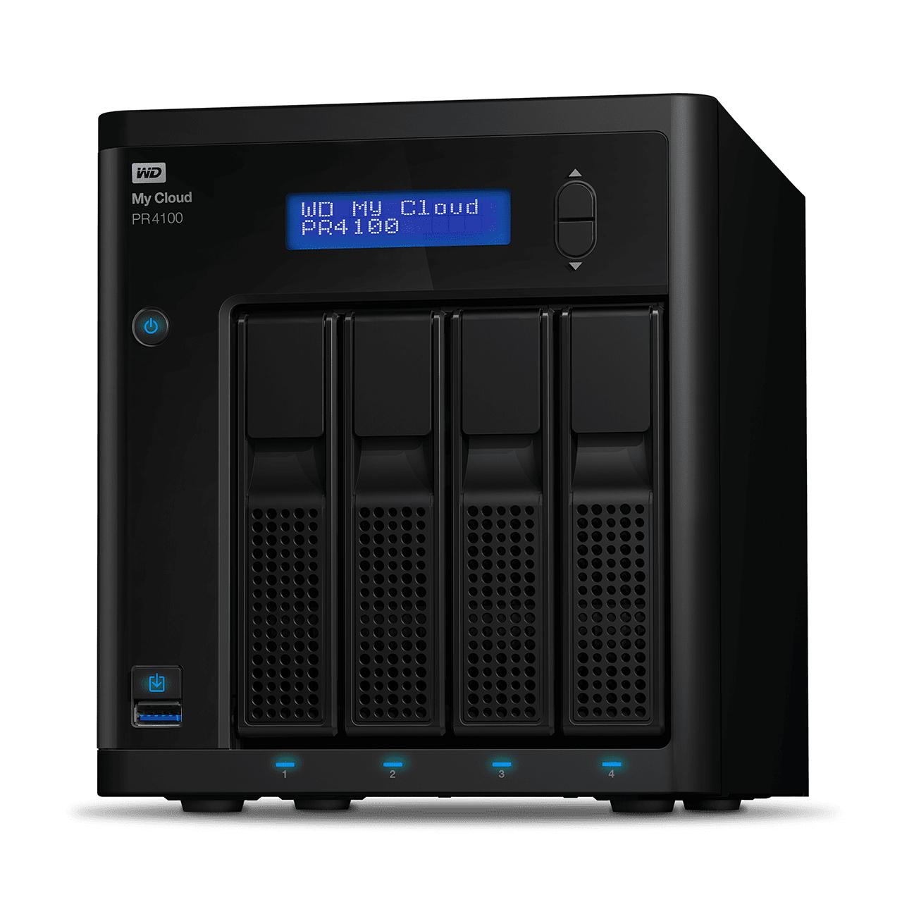 Serveur de stockage NAS WD My Cloud Série Pro PR4100 - 32 To (4 x 8To)